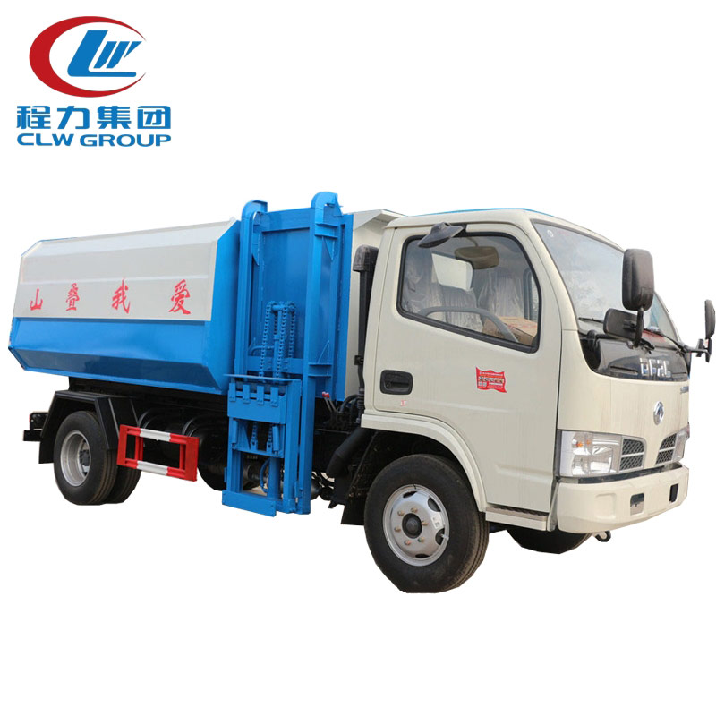 4X2 Dongfeng 5CBM Side Loader Garbage Trucks