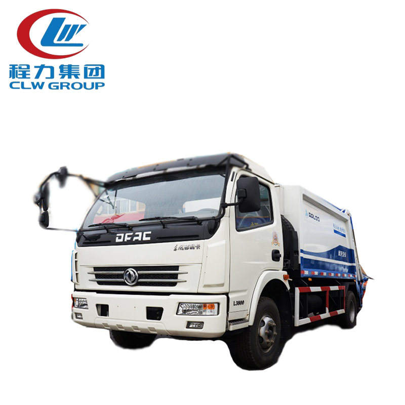 4X2 Dongfeng 5m3 Docking Garbage Trucks