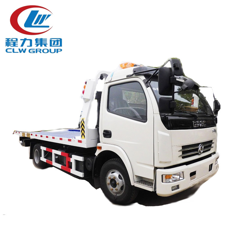 Dongfeng 4 Tons Flatbed Wrecker Trucks