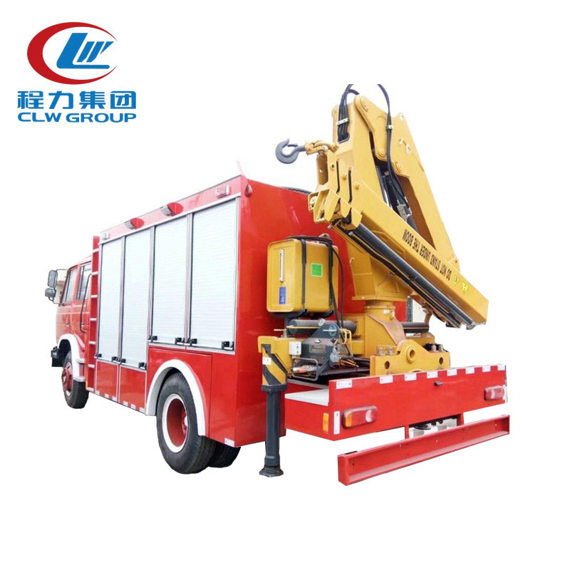 Fire Rescue Truck With 10 Ton Xcmg Crane