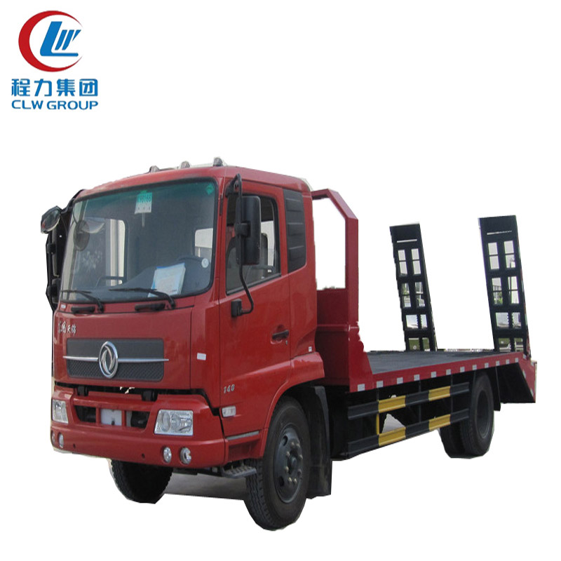 10 Ton Dongfeng Flatbed Truck For Excavator Transport