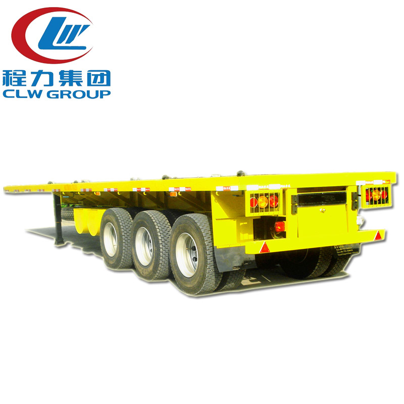 3 Axles 40Ft Flatbed Container Semi Trailers