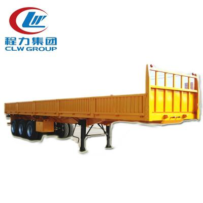 3 Axles 60Tons Side Wall Cargo Semi Trailers