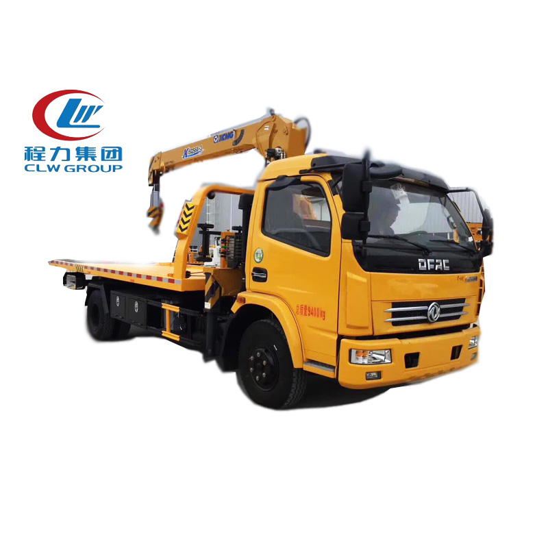 Dongfeng 3Tons Sliding Platform Recovery Trucks With Crane