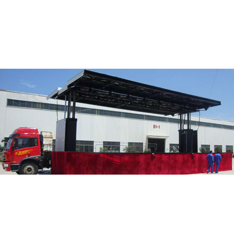 Mobile Advertising LED Stage Semi Trailers
