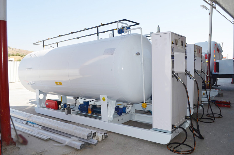 10CBM LPG Skid Mobile Gas Station