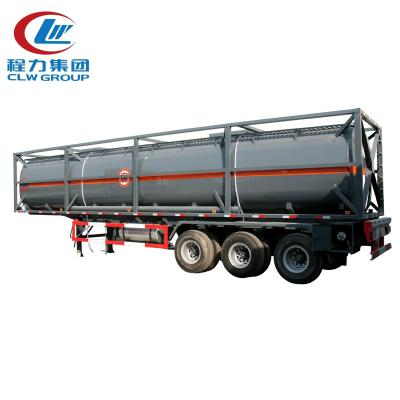 3-Axle chemical liquid ISO tank
